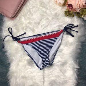 NWT Mossimo Navy & White Striped Bikini Bottom